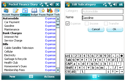 edit subcategories